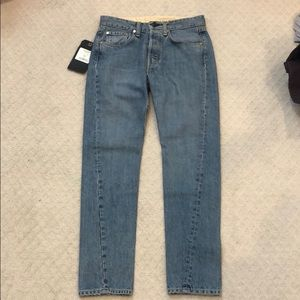 Rag & Bone straight leg jeans vintage wash